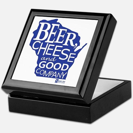 Blue & Gold Beer, Cheese & Good Compa Keepsake Box