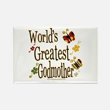 Godmother Butterflies Rectangle Magnet