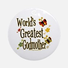 Godmother Butterflies Ornament (Round)