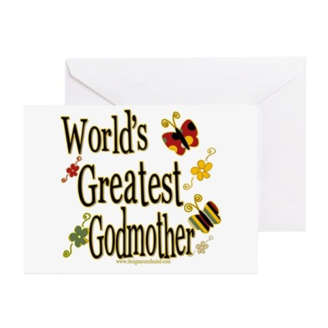 Godmother Butterflies Greeting Cards (Pk of 10
