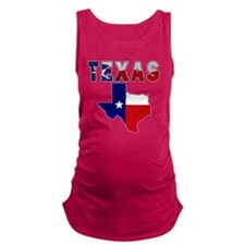 Flag Map With Texas Maternity Tank Top