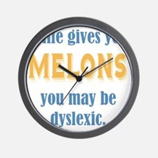 If Life Gives You Melons Wall Clock