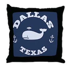 souv-whale-dallas-BUT Throw Pillow