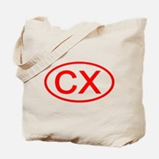 CX Oval (Red) Tote Bag