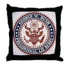 bush-lie-bury-BUT Throw Pillow