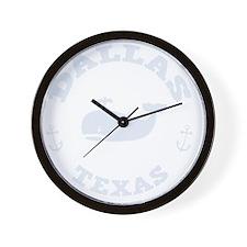 souv-whale-dallas-DKT Wall Clock