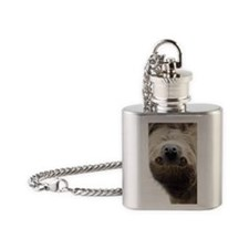Sloth iPhone Wallet/iTouch Case Flask Necklace