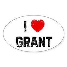 I * Grant Oval Decal