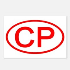 CP Oval (Red) Postcards (Package of 8)