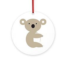 Koala Bear Round Ornament