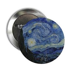 "Vincent Van Gogh Starry Night 2.25"" Button"