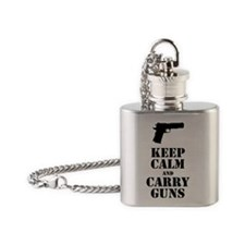 keepcalmGuns Flask Necklace