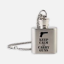 keepcalmGuns Flask Necklace