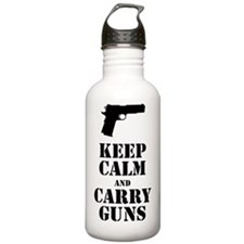 keepcalmGuns Water Bottle