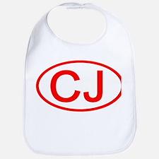 CJ Oval (Red) Bib
