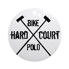 Hardcourt Bike polo Round Ornament