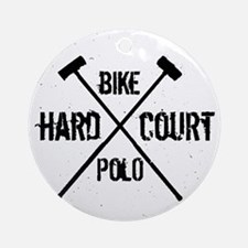 Hardcourt Bike polo Round Ornament