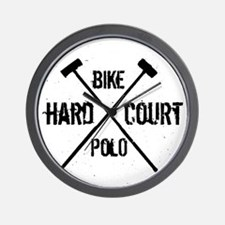Hardcourt Bike polo Wall Clock