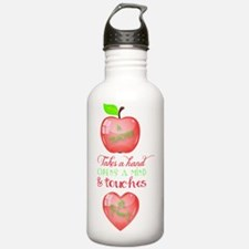 A Teacher Touches a He Water Bottle