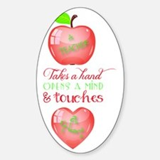 A Teacher Touches a Heart Quote Ima Decal
