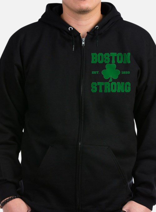 boston strong b Zip Hoodie (dark)