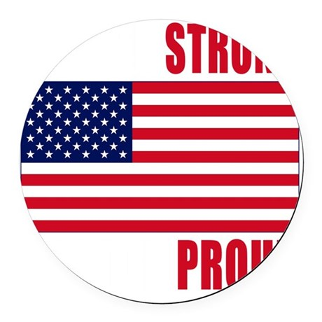 boston strong(blk) Round Car Magnet