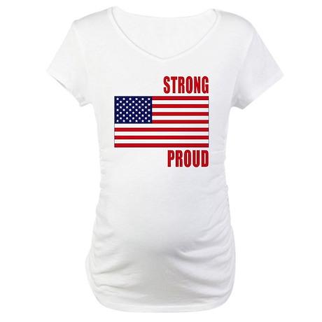 boston strong(blk) Maternity T-Shirt