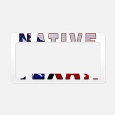 Native Texan Flag License Plate Holder