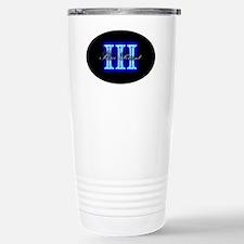 Three Percent Glow Stainless Steel Travel Mug