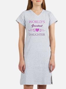 Worlds Greatest Daughter (purpl Women's Nightshirt