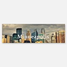 Minneapolis_14X4_Skyline Bumper Bumper Sticker