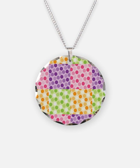 Squares of circles Pattern Necklace