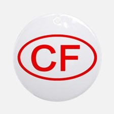 CF Oval (Red) Ornament (Round)