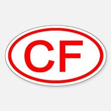 CF Oval (Red) Oval Decal