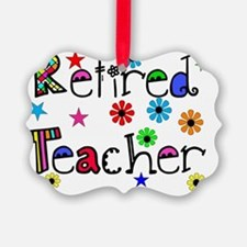 retired teacher stars flowers Ornament