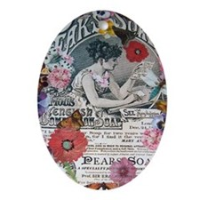 Soap Ad Collage Oval Ornament