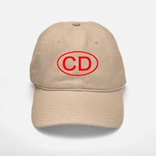 CD Oval (Red) Baseball Baseball Cap