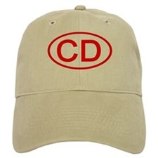 CD Oval (Red) Baseball Cap