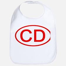 CD Oval (Red) Bib