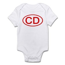 CD Oval (Red) Infant Bodysuit