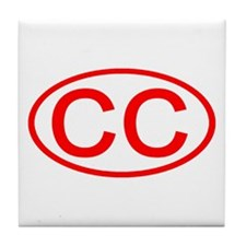 CC Oval (Red) Tile Coaster