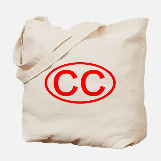 CC Oval (Red) Tote Bag