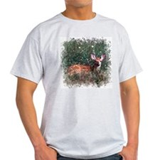 Whitetail Deer Ash Grey T-Shirt