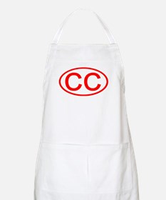 CC Oval (Red) BBQ Apron
