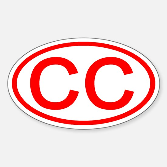 CC Oval (Red) Oval Decal