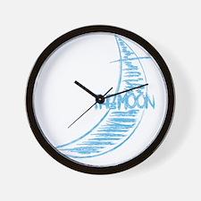 pk_rag_back_moon Wall Clock