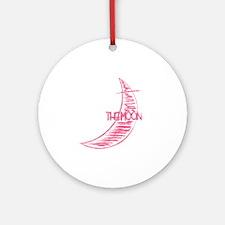 lmn_moon Round Ornament