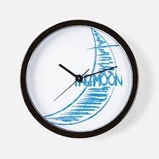wt_rag_back_moon Wall Clock