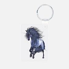 Blue Unicorn Keychains