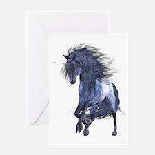 Blue Unicorn Greeting Card